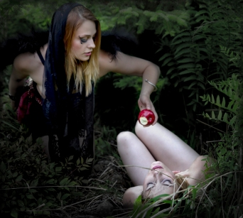 Lilith and Eve in Garden of Eden by Exophotography
